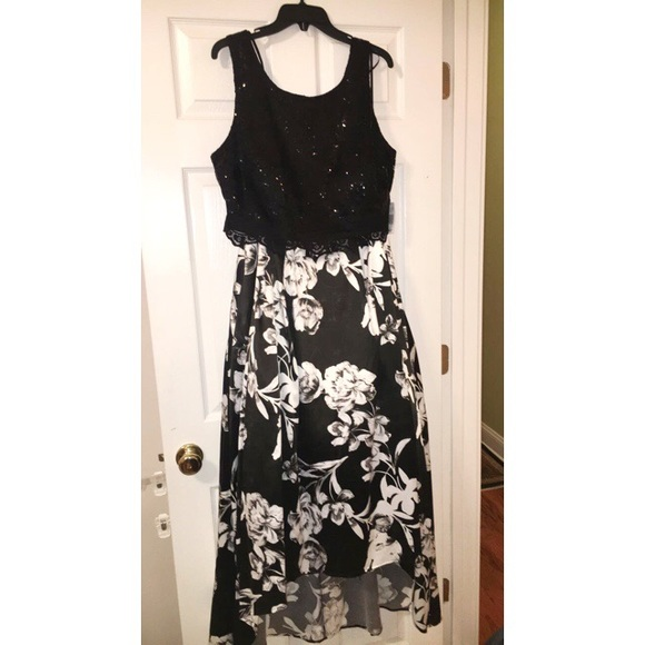 Dresses Black And White Floral Two Piece Prom Dress Poshmark